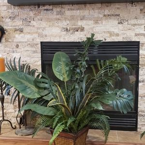 Beautiful large artificial house plant